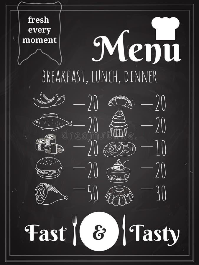 Vector de Afficheontwerp van het Voedselmenu stock illustratie
