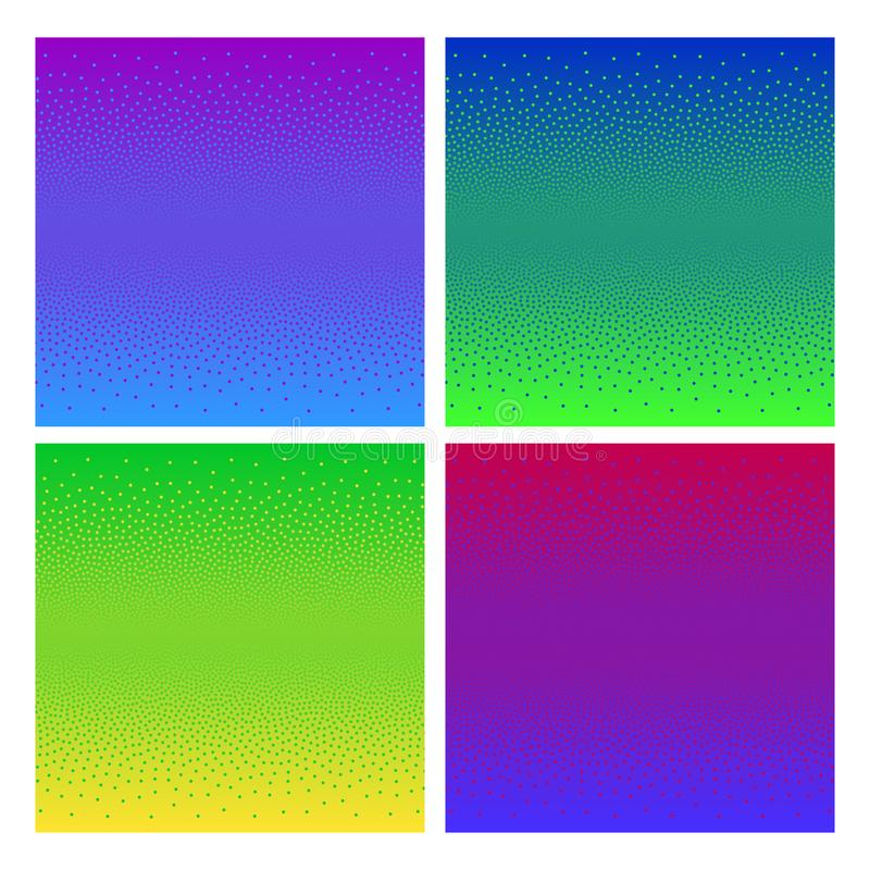 Vector de Art Background For Videogame Set del pixel stock de ilustración