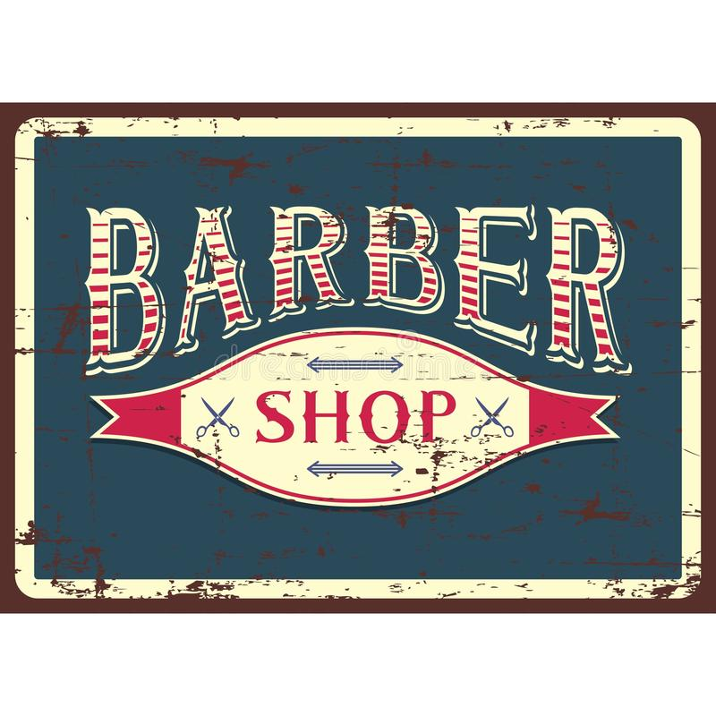 Vector de Barber Shop Sign Signage de la barbería stock de ilustración