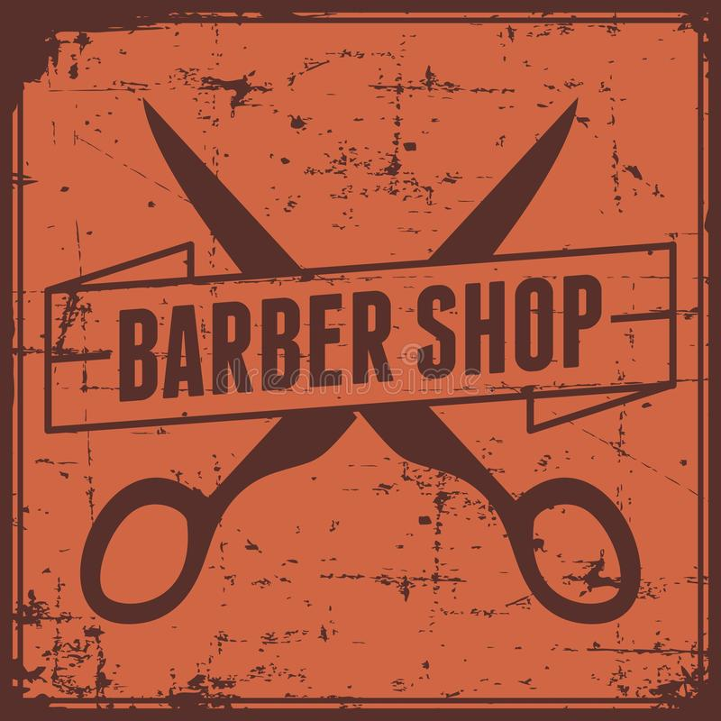 Vector de Barber Shop Sign Signage de la barbería ilustración del vector