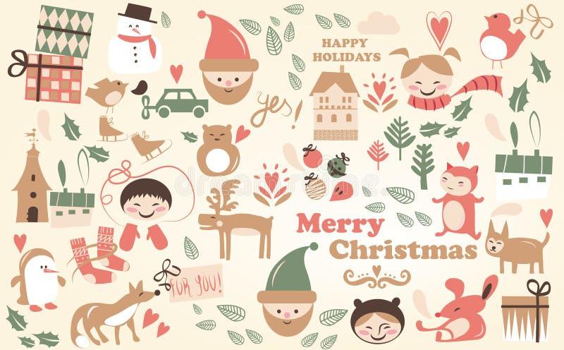 Vector - de beeldverhalen van Kerstmis stock illustratie