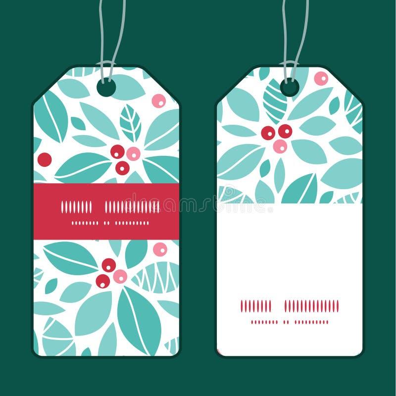 Vector de bessen verticale streep van de Kerstmishulst royalty-vrije illustratie