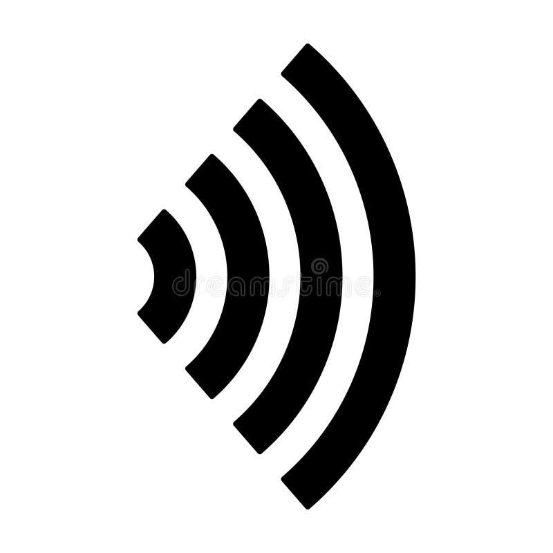 Vector de betalingssysteem zonder contact van het pictogramsymbool Geïsoleerdeo illustratie stock illustratie
