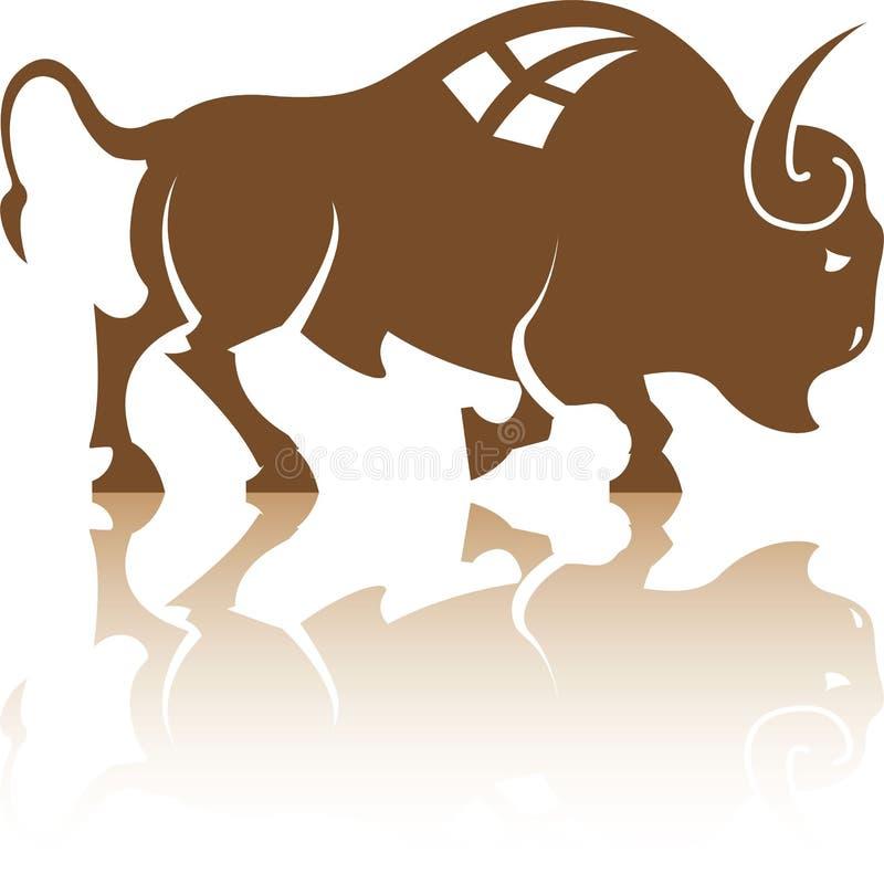 Vector de Bison Buffalo stock de ilustración