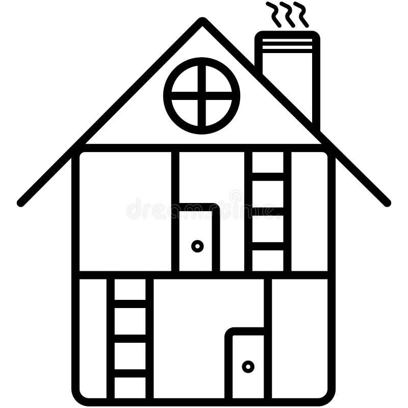 Vector de bouwpictogram vector illustratie