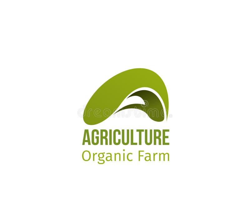 Vector de brievena pictogram van het landbouw organisch landbouwbedrijf stock illustratie
