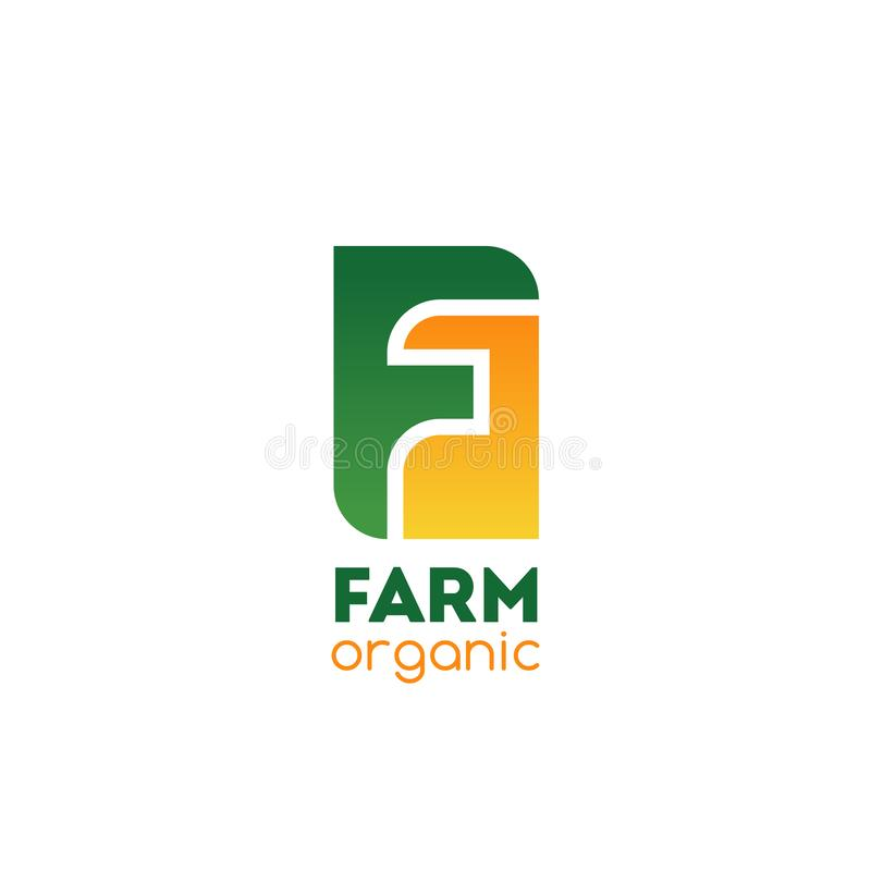 Vector de brievenf pictogram van het landbouwbedrijf organisch bedrijf stock illustratie