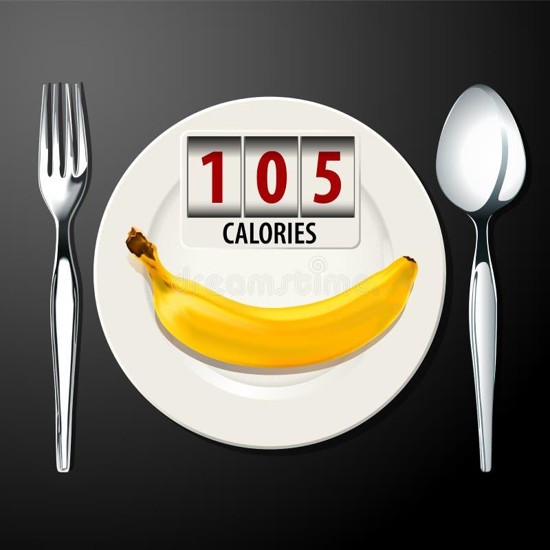 Vector de calorías en plátano ilustración del vector