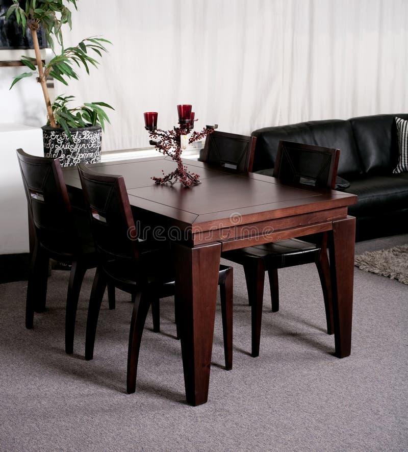 Vector de cena moderno en una casa con estilo fotos de archivo libres de regalías