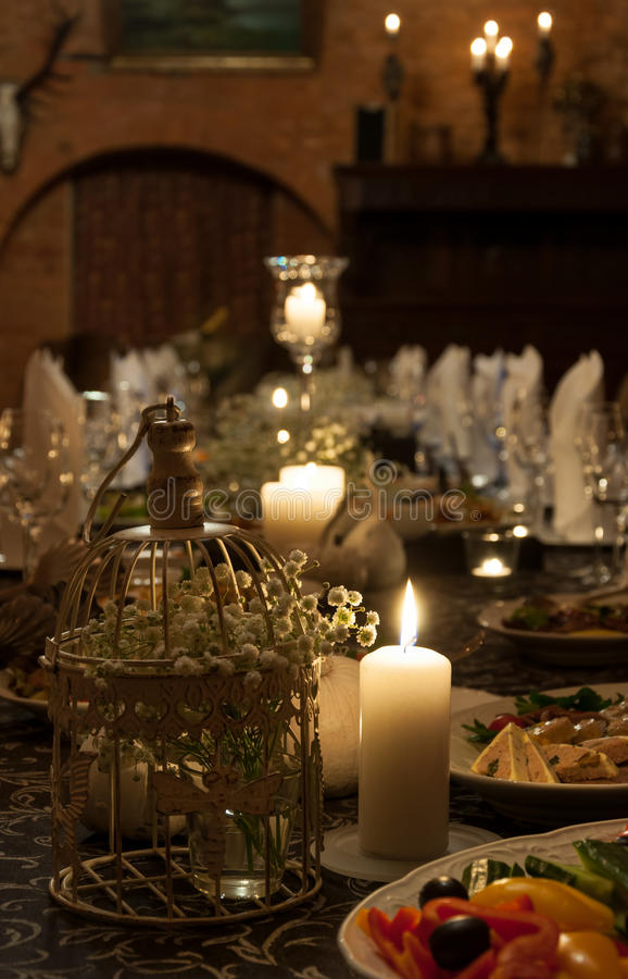 Vector de cena romántico fotografía de archivo libre de regalías