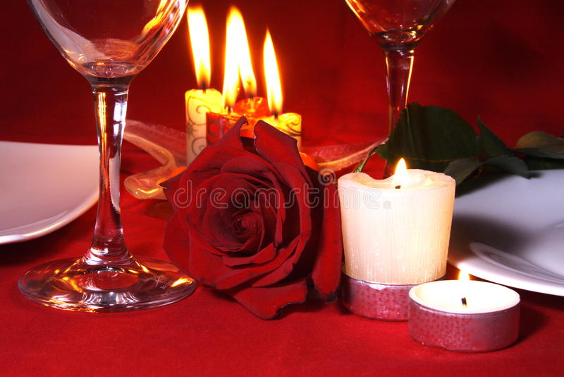 Vector de cena romántico Arragement imágenes de archivo libres de regalías