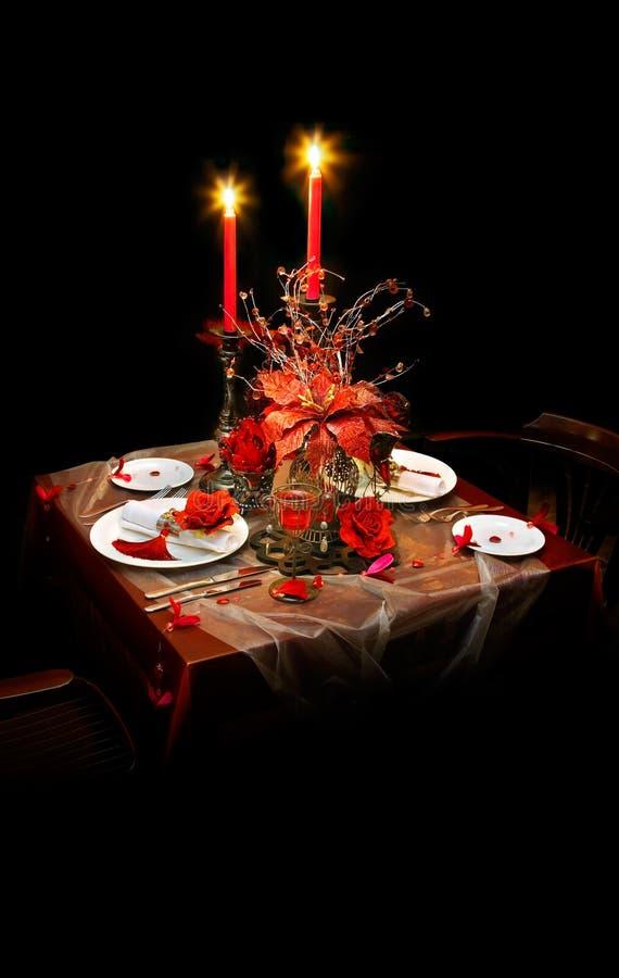 Vector de cena servido foto de archivo