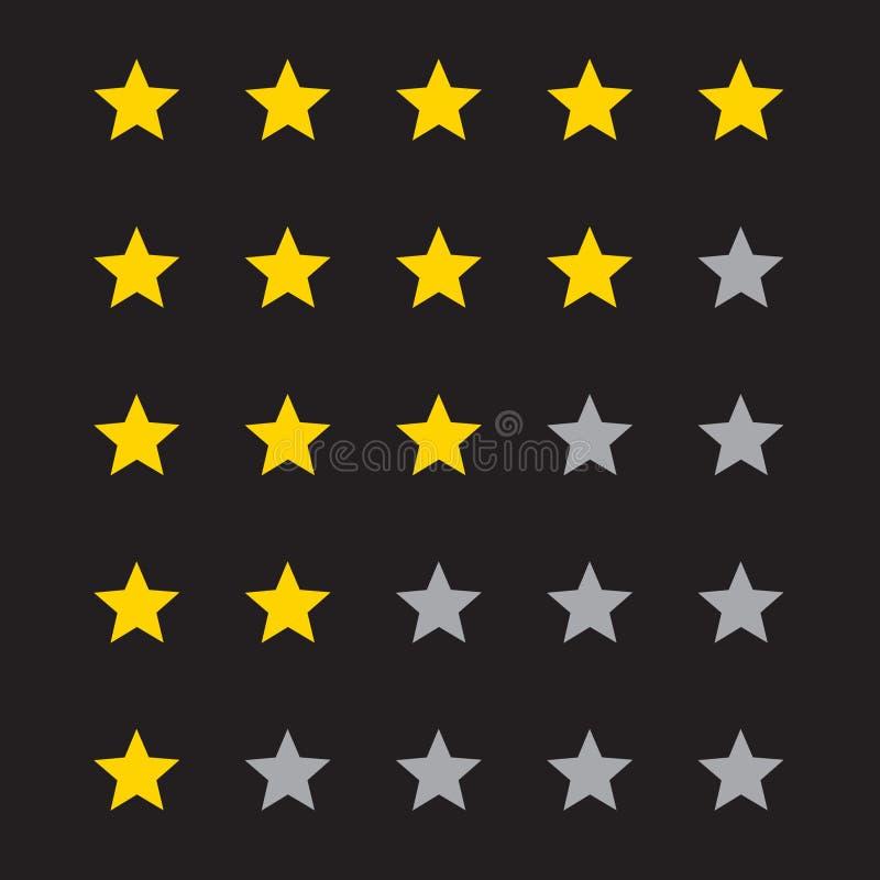 vector de cinco estrellas del icono del grado ilustración del vector