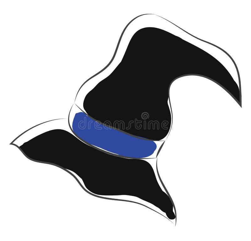 Vector de color de bruja negra ilustración del vector