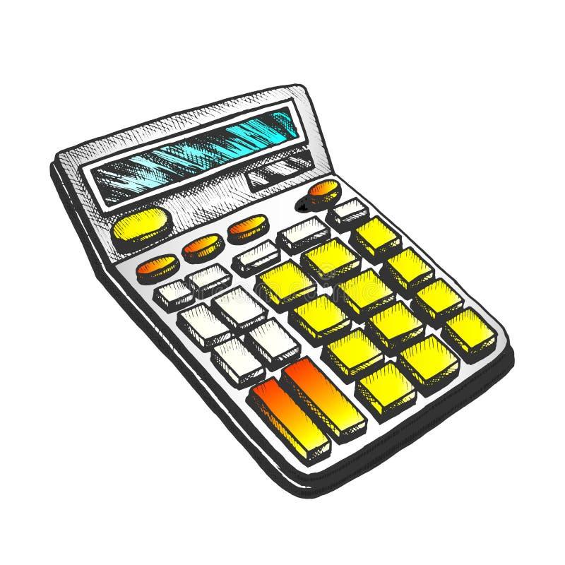 Vector de color del equipo de la estación de cálculo ilustración del vector
