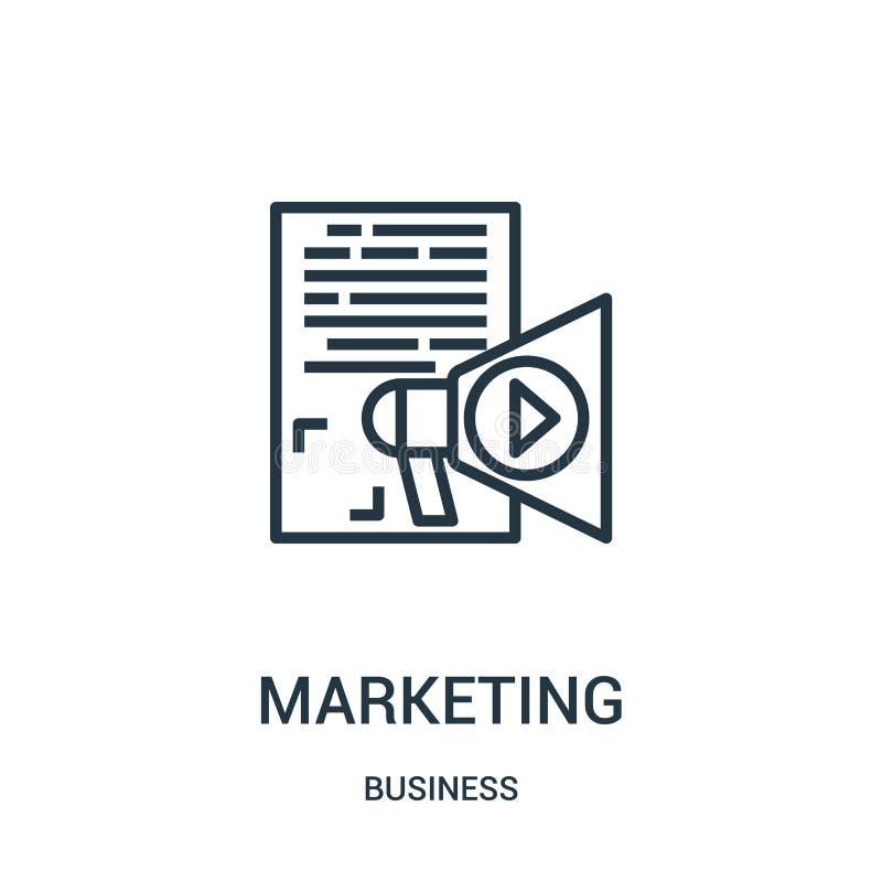 vector de comercialización del icono de la colección del negocio Línea fina ejemplo del vector del icono del esquema del márketin libre illustration