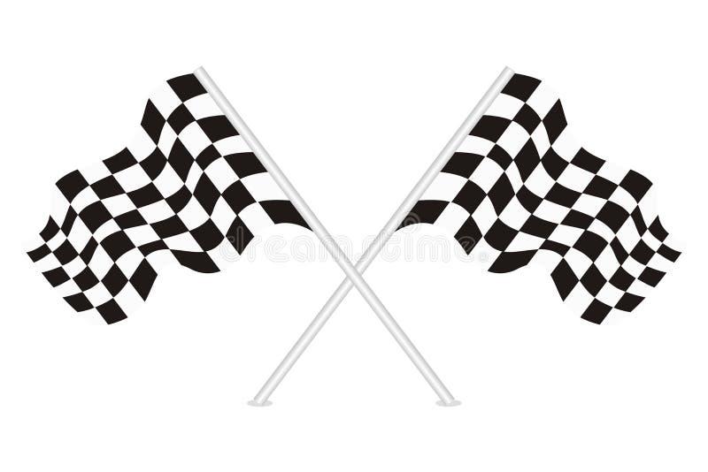 Vector de competir con banderas stock de ilustración