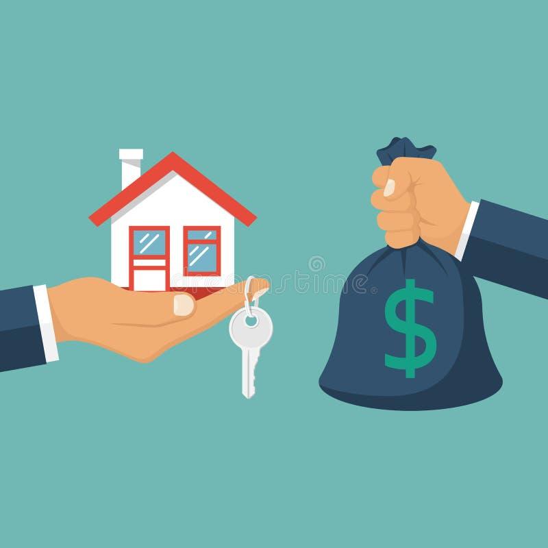 Vector de compra de la casa ilustración del vector