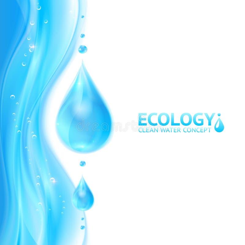 Vector de ecologieachtergrond van waterdalingen