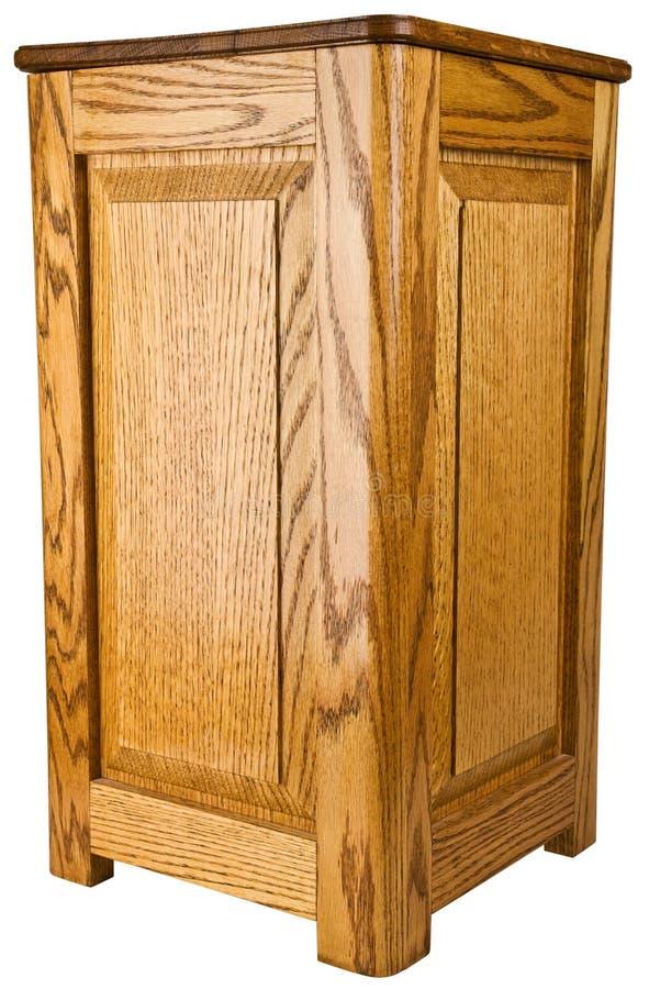 Vector de extremo del zócalo de madera de roble fotos de archivo