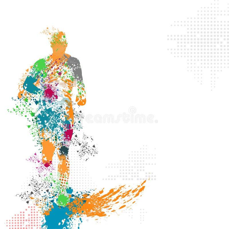 Vector de funcionamiento del grunge de Multicolors libre illustration