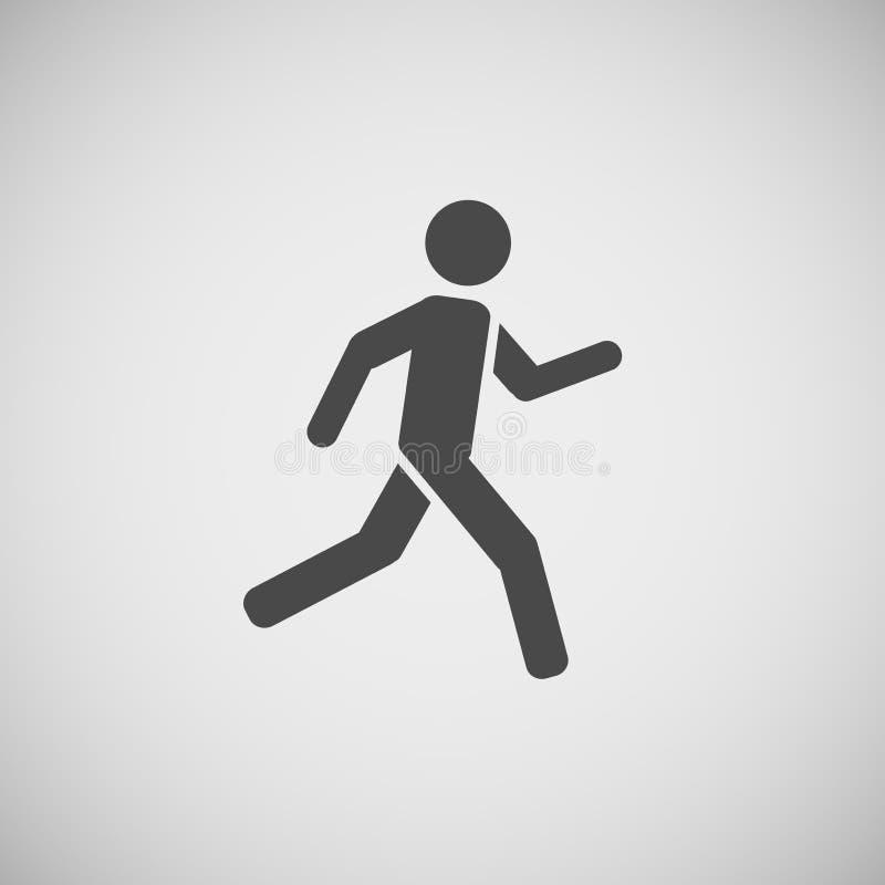 Vector de funcionamiento eps10 del hombre que va que camina ilustración del vector
