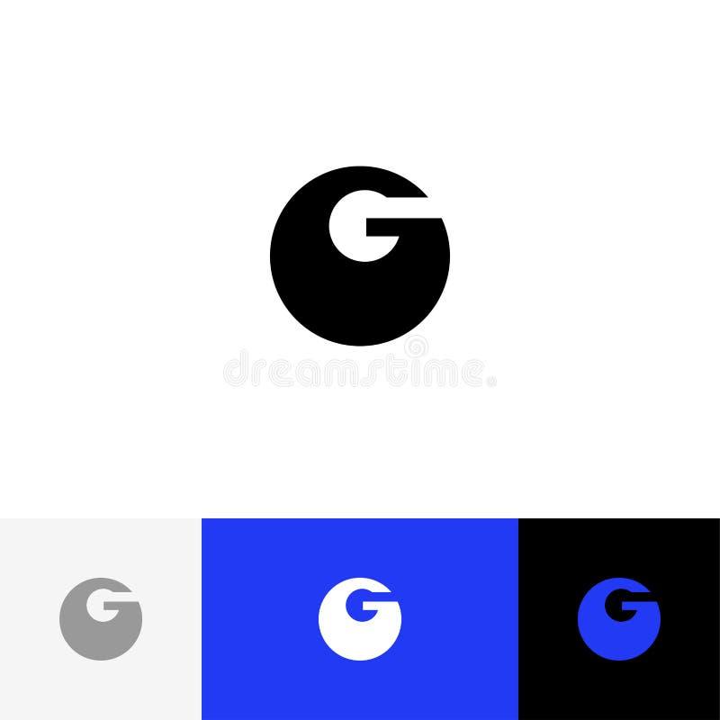 Vector de G Logotipo del minimalismo, icono, símbolo, muestra de las letras intrépidas g fotos de archivo