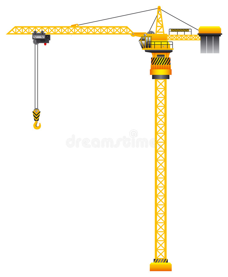 Vector de grúa stock de ilustración