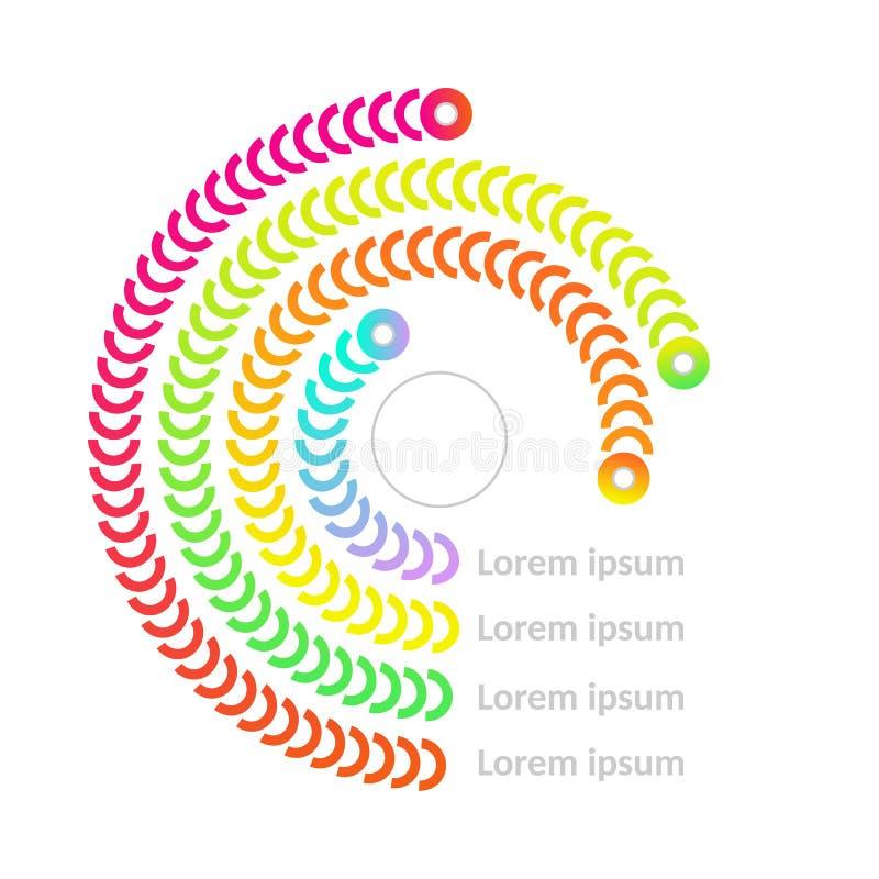 Vector de grafiekpictogram van het cirkeldiagram royalty-vrije illustratie