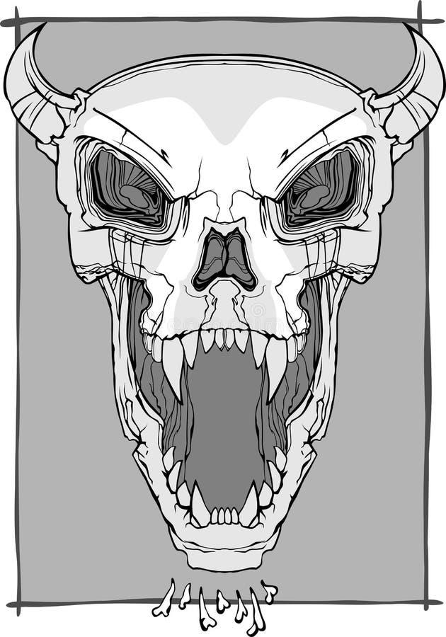 Vector de griterío del cráneo libre illustration