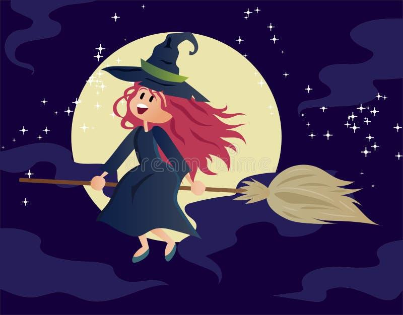 Vector de Halloween de la bruja fotos de archivo libres de regalías
