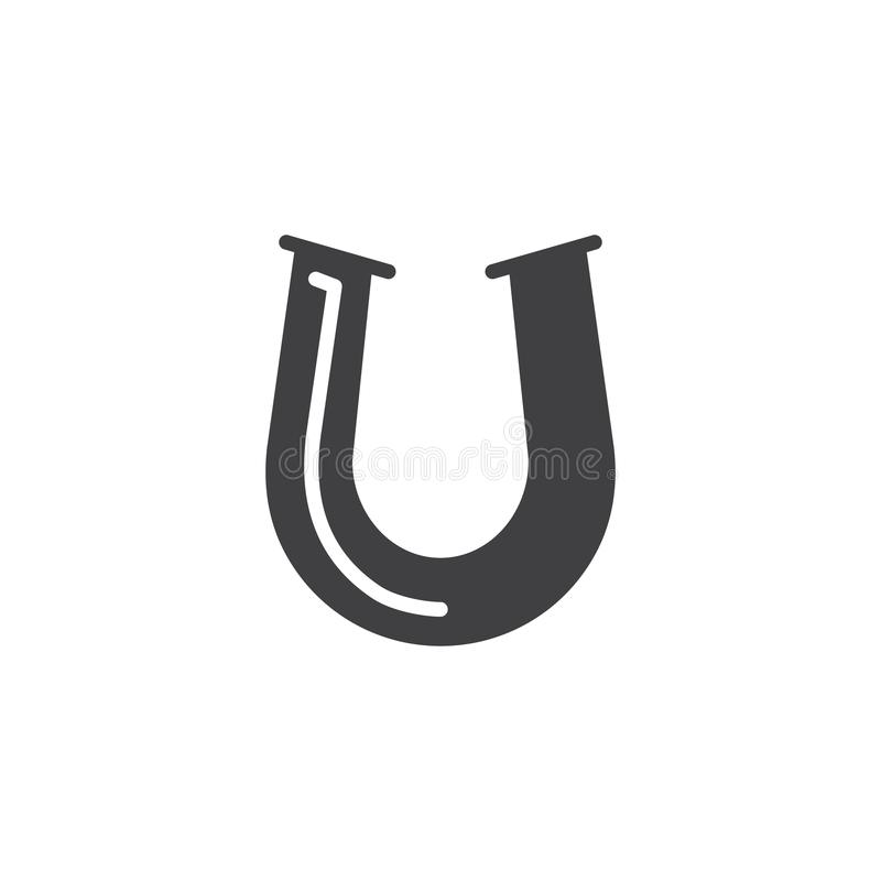 Vector de herradura del icono ilustración del vector