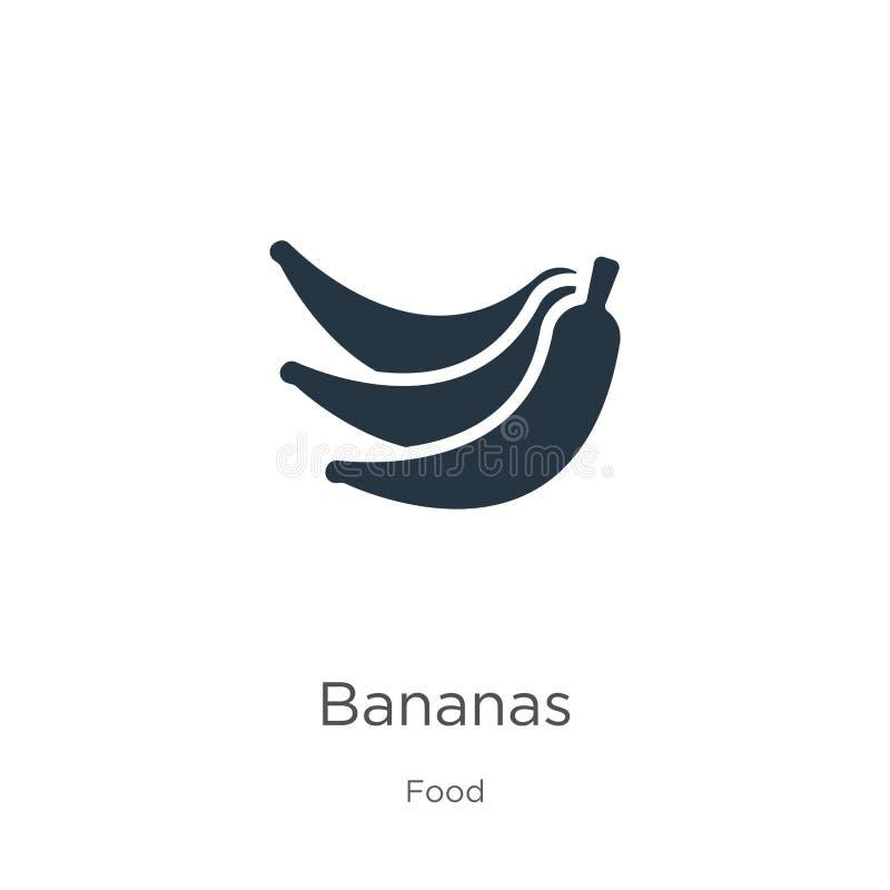 Vector de icono del plátano Un icono del banano plano de moda procedente de la recolección de alimentos aislado en fondo blanco S stock de ilustración