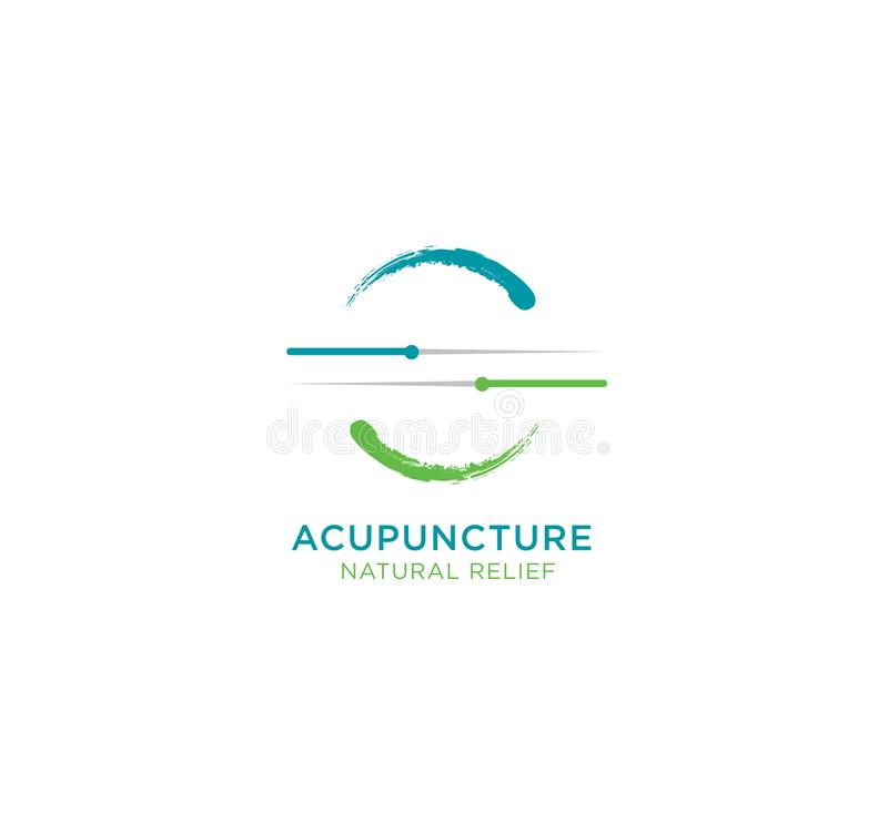 Vector de Illustratieconcept van de acupunctuur Natuurlijk Hulp royalty-vrije illustratie