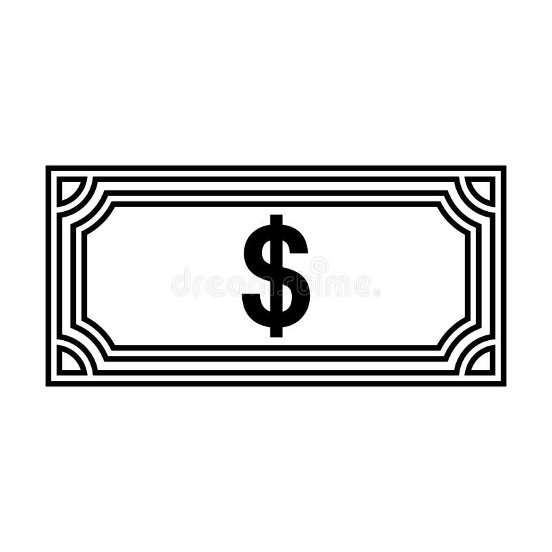 Vector de illustratieontwerp van het Иilldollar geïsoleerd pictogram royalty-vrije illustratie
