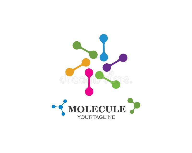 vector de illustratieontwerp van het moleculeembleem stock illustratie