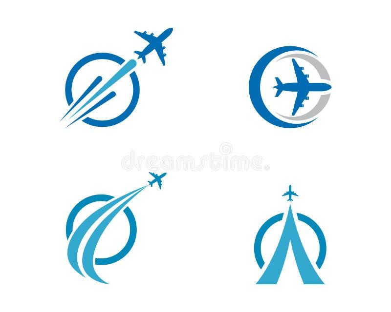 Vector de illustratieontwerp van het vliegtuigpictogram stock illustratie