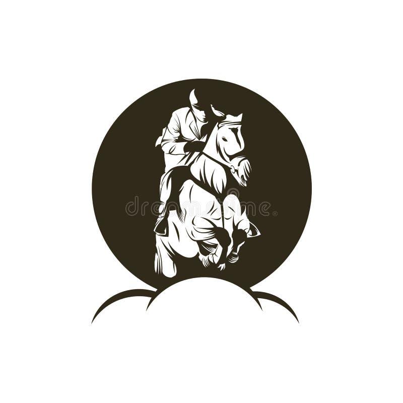 Vector de illustratieontwerp van de paardsprong royalty-vrije illustratie