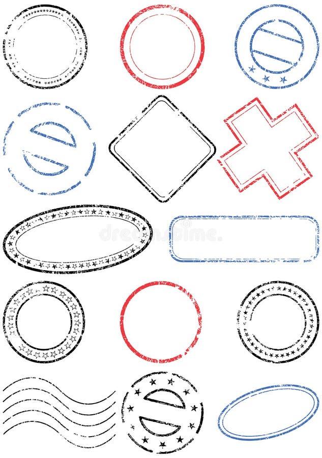 Vector de illustratiereeks van de zegel vector illustratie