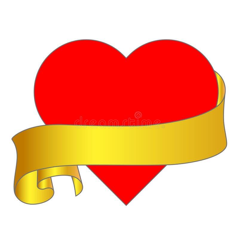 Vector de illustratieteken van de hartliefde - symboolvalentijnskaart stock illustratie