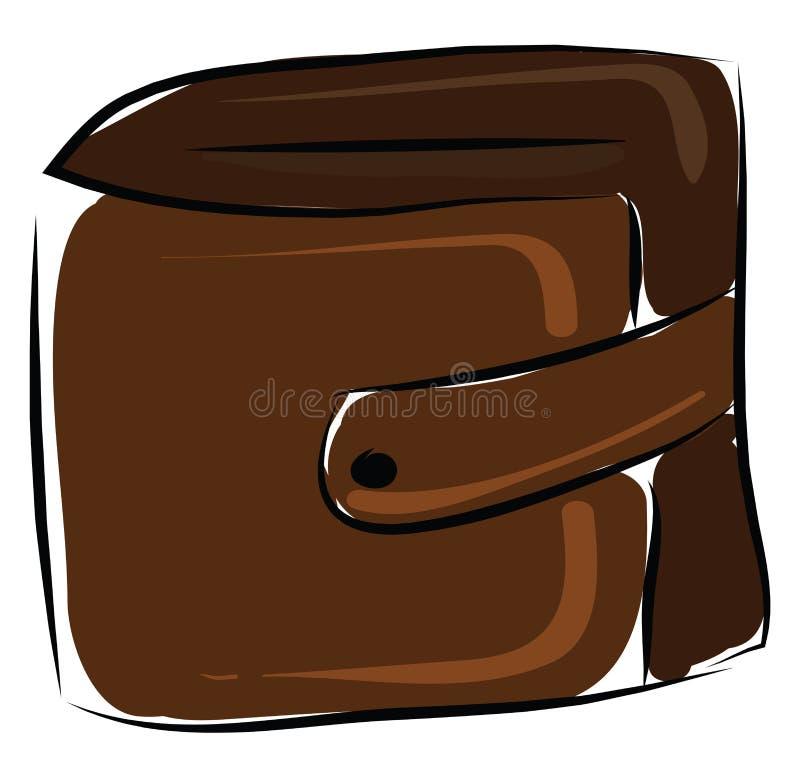 Vector de ilustración de maleta marrón stock de ilustración