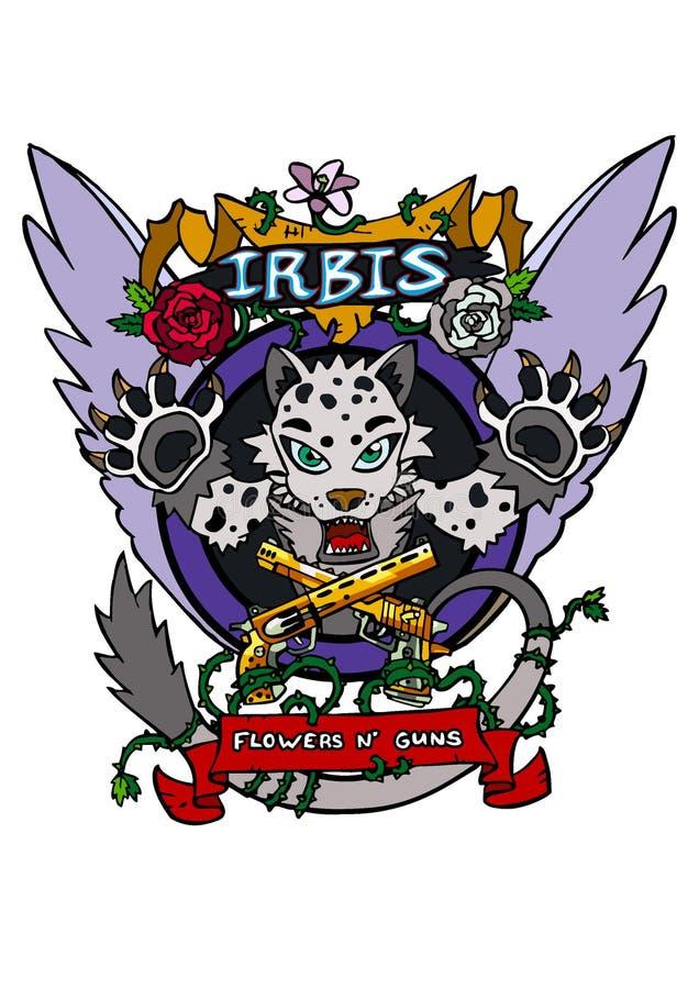 Vector de IRBIS aislado foto de archivo