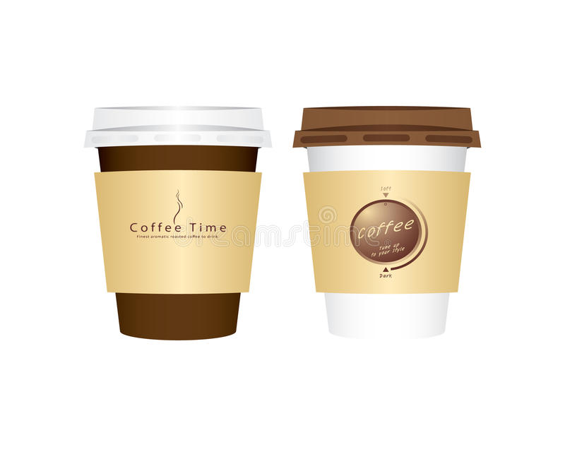 Vector de koffiekop van 2 Document royalty-vrije illustratie