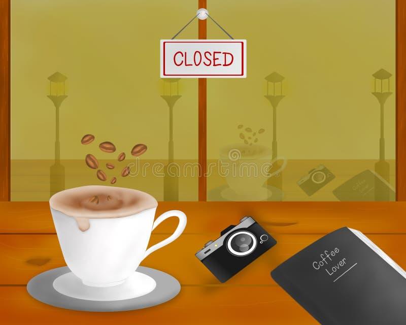 Vector de koffiethema van de koffieminnaar royalty-vrije stock afbeeldingen