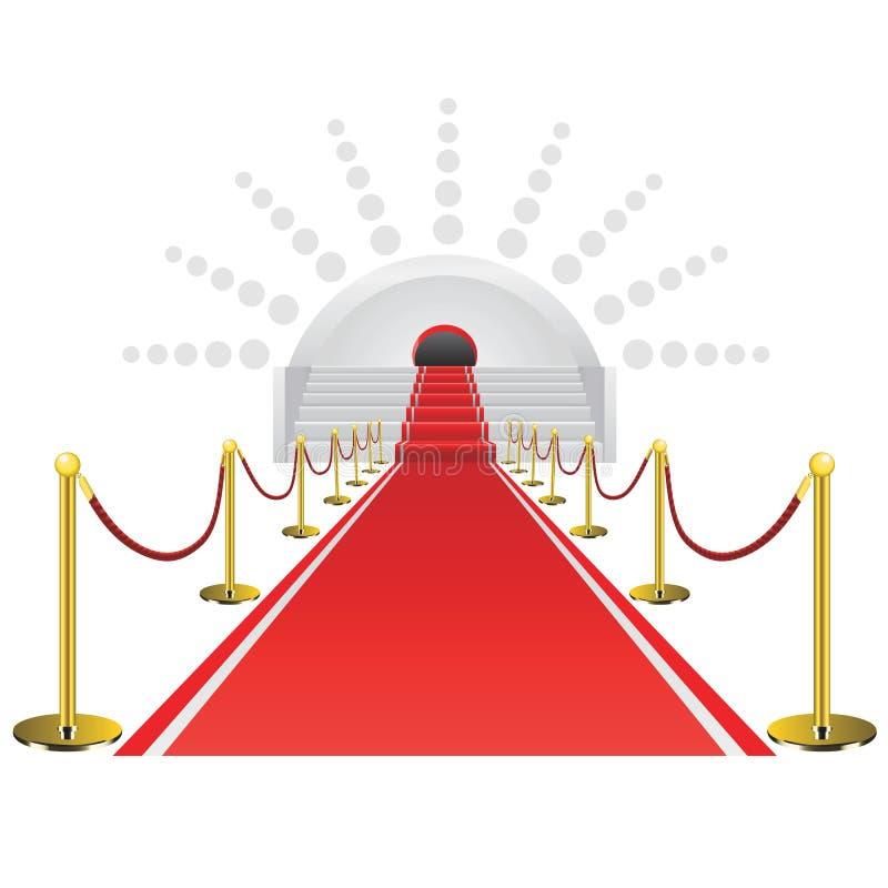 Vector de la alfombra roja stock de ilustración