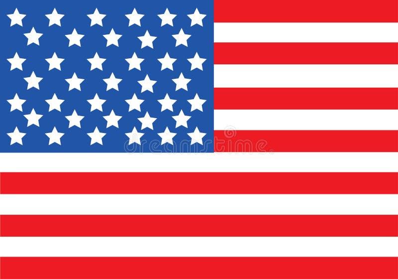 Vector de la bandera americana fotografía de archivo libre de regalías