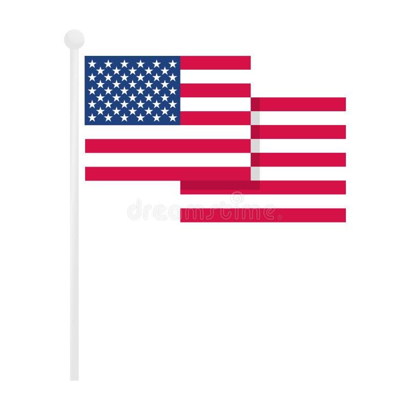 Vector de la bandera americana libre illustration