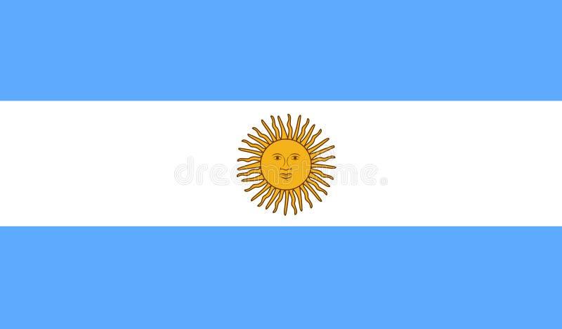 Vector de la bandera de la Argentina Ejemplo de la bandera de la Argentina libre illustration