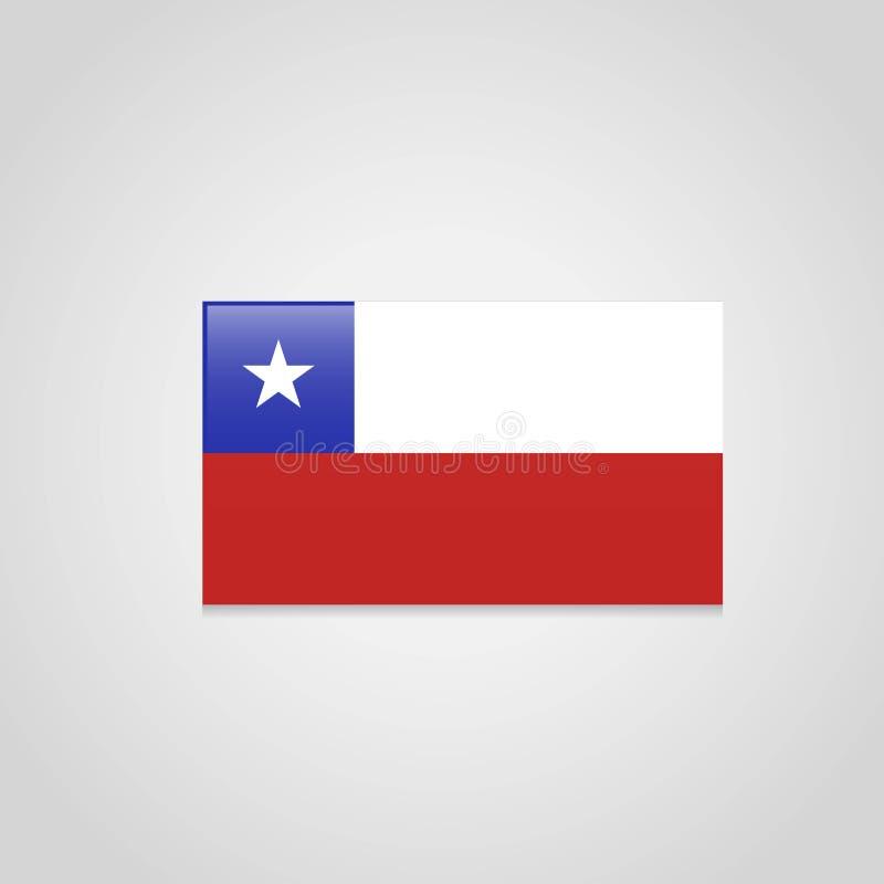 Vector de la bandera de Chile stock de ilustración