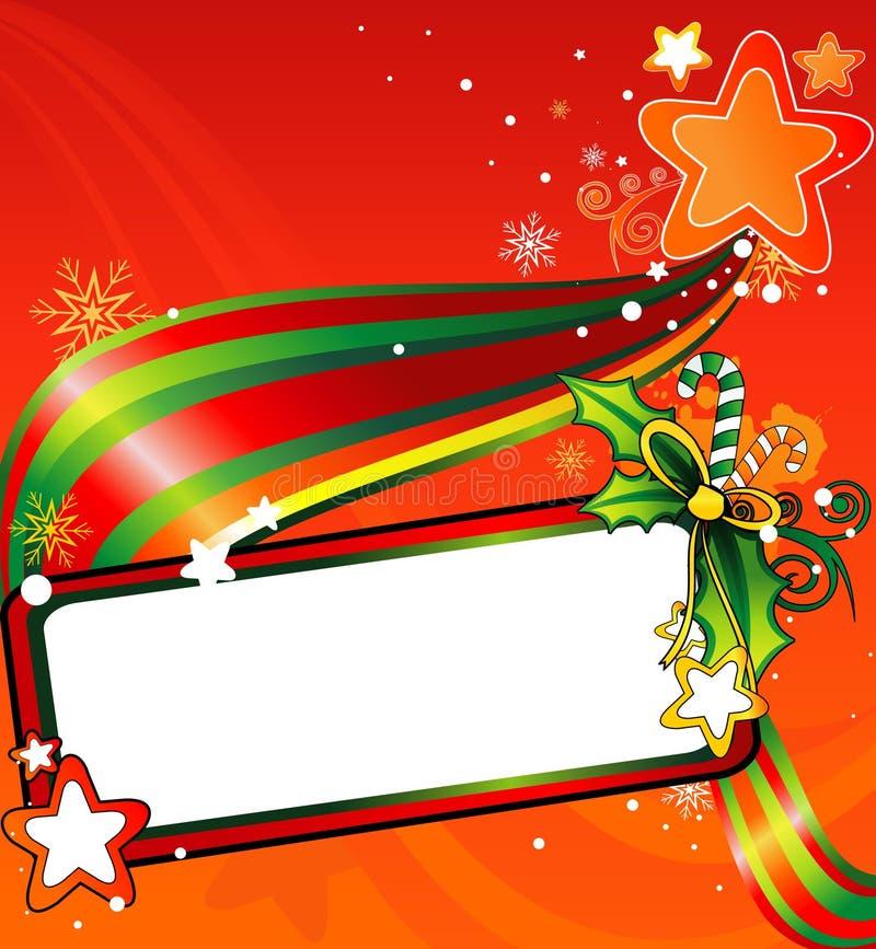 Vector de la bandera de la Navidad stock de ilustración